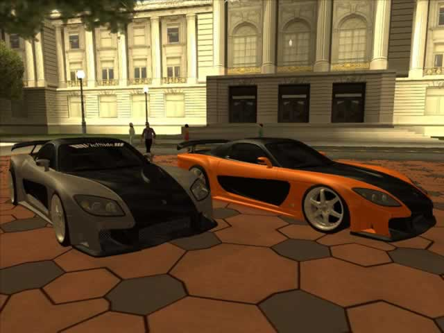 download gta san andreas cars mazda rx7 veilside fortune 高清图片